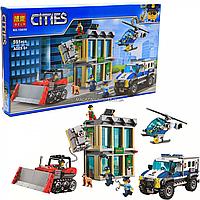 Конструктор «Cities» город Bela - Ограбление на бульдозере, 591 деталь (10659)