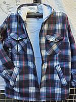 Рубашка теплая мужская на меху норма с капюшоном размер 48-50 в розницу