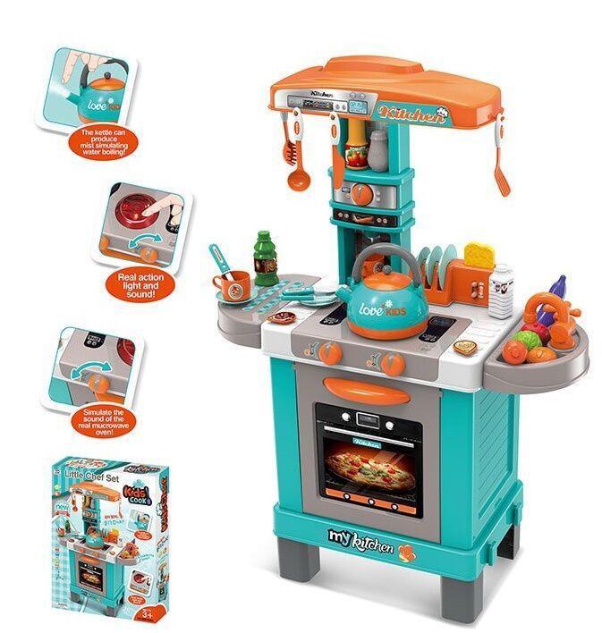 Интерактивная кухня с набором посуды (свет, звук) 008-938A