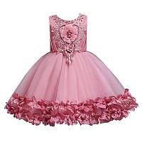 Детское нарядное платье с блестками 110- рост