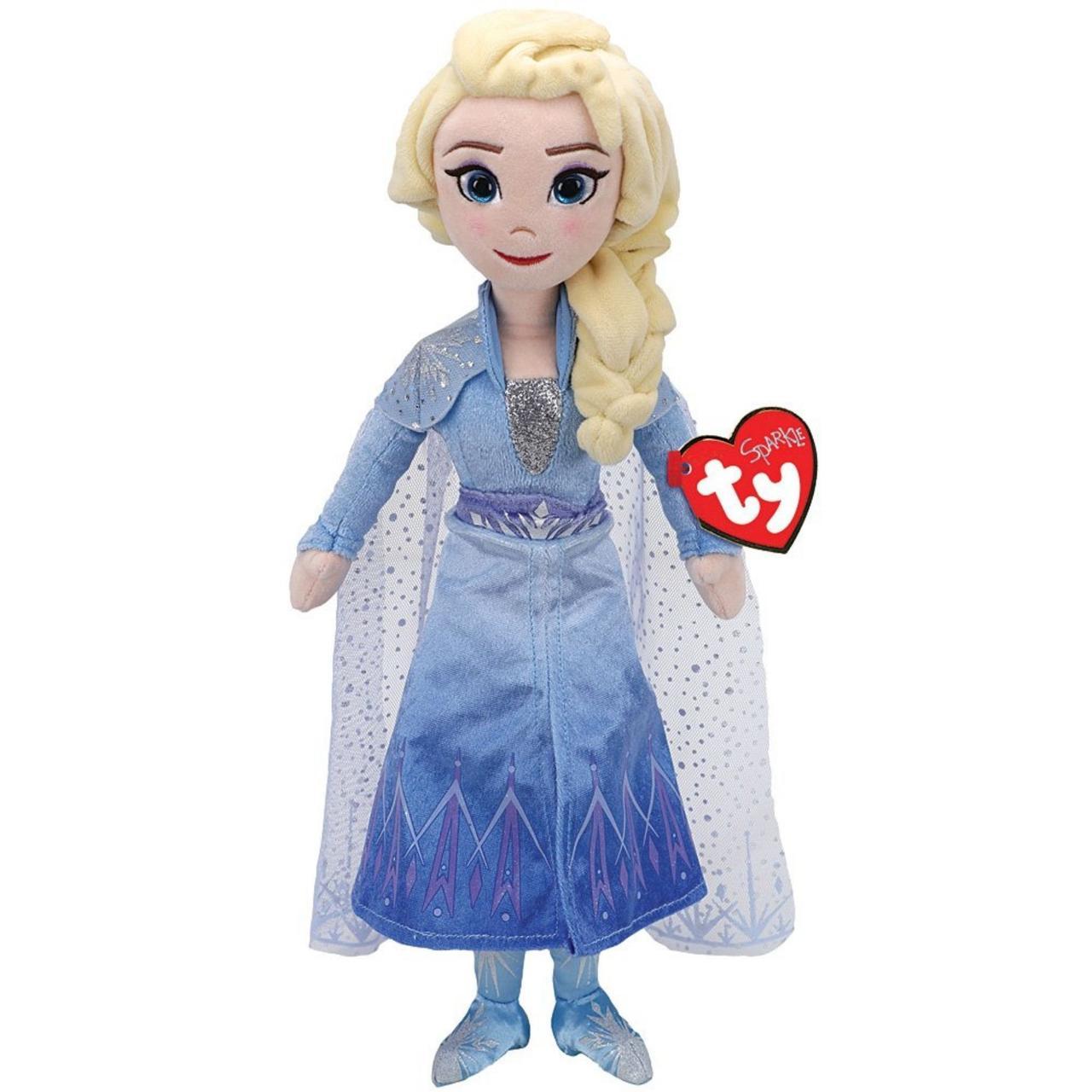 Мягкая игрушка Кукла Дисней Холодное сердце Эльза (смеется) 40 см. Оригинал TY Frozen 02406