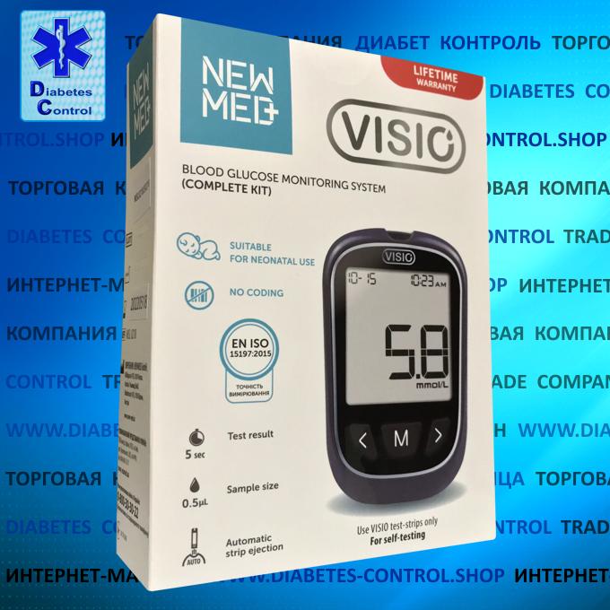 Глюкометр NEWMED Visio (60 тест-полосок в наборе)