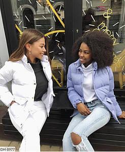 Стильна жіноча куртка, подовжена.Тканина синтепон 200. Розміри: 42-44 46-48.