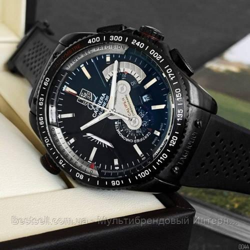 Часы мужские наручные  Tag Heuer Grand Carrera Calibre 36 RS Caliper Rubber All Black / реплика ААА класса /