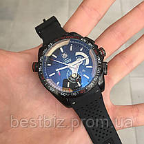 Часы мужские наручные  Tag Heuer Grand Carrera Calibre 36 RS Caliper Rubber All Black / реплика ААА класса /, фото 2
