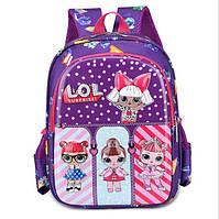 Яркий рюкзак для девочки c куклой LoL на 4-6 лет