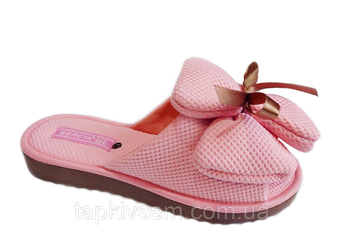Тапочки женские Белста ОРИГИНАЛ 19-12 розовые бант-принцесса