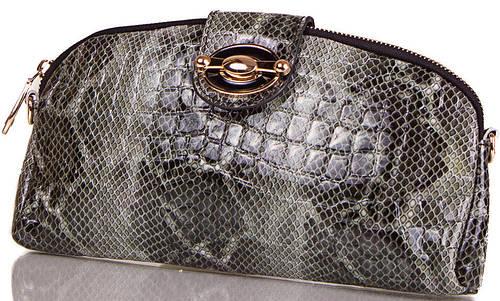 Стильный  женский кожаный клатч  с принтом ETERNO, ET336954-1