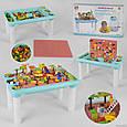 Игровой столик для песка и воды, детский столик с Конструктором 78 дет, фото 4
