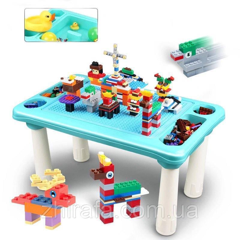 Игровой столик для песка и воды, детский столик с Конструктором 78 дет