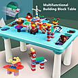 Игровой столик для песка и воды, детский столик с Конструктором 78 дет, фото 2