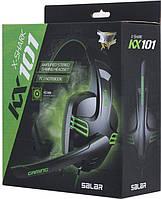 Проводная гарнитура SALAR KX101 Black игровая для компьютера игр кибер спорта музыки
