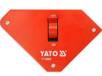 Сварочный магнит 25кг с выключателем Yato YT-0869
