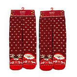 Новорічні жіночі махрові шкарпетки 2 пари, фото 2