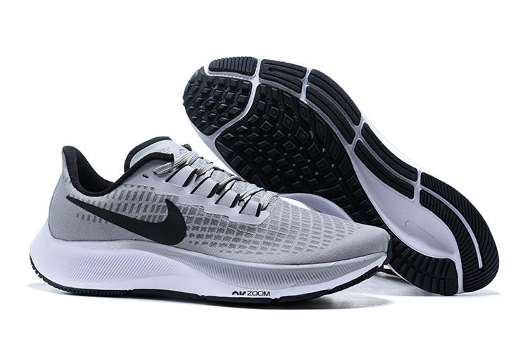 Кроссовки Nike Air Zoom Pegasus 37 Turbo Wolf Grey Black White Men's Running Shoes серые мужские
