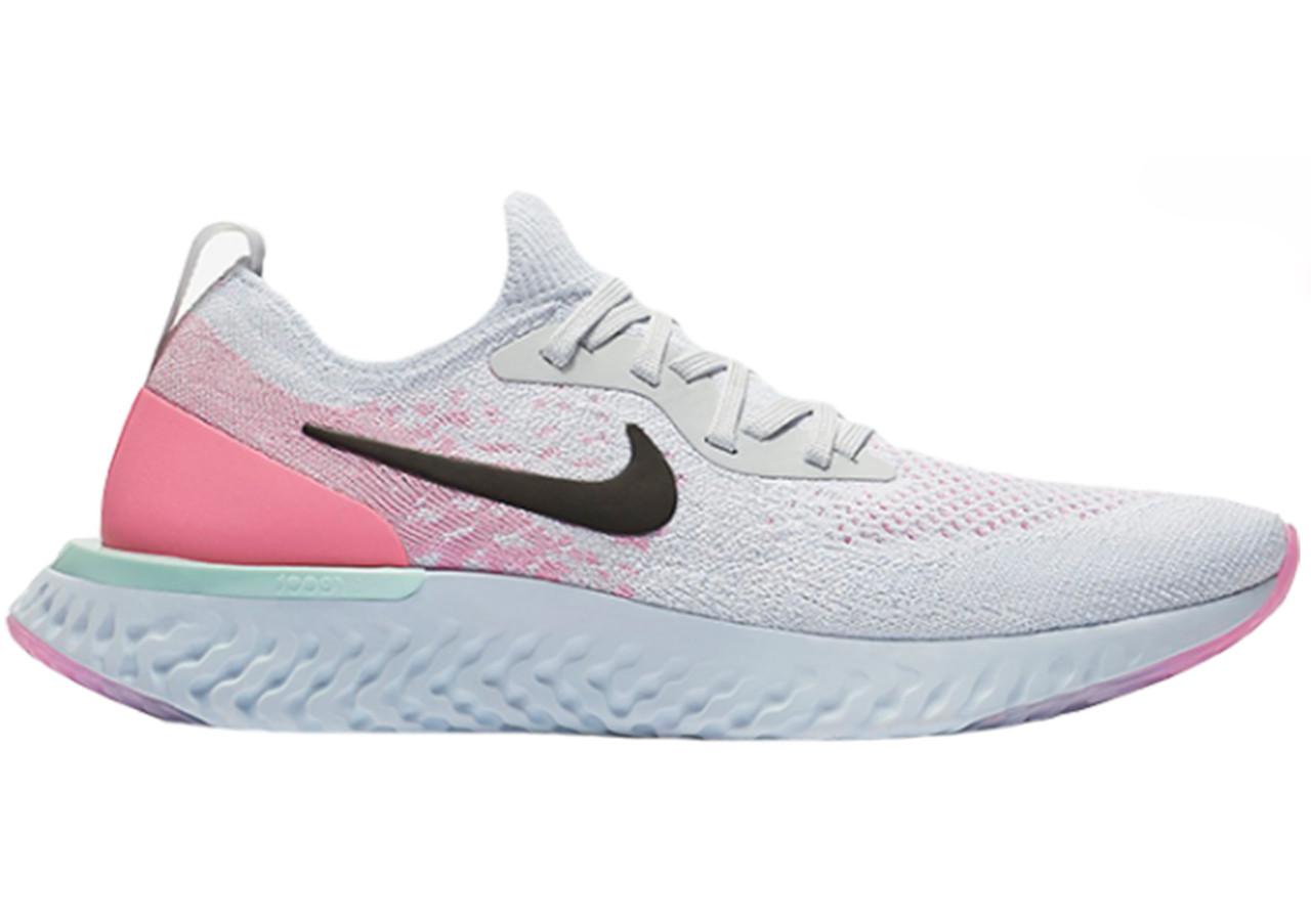 Кроссовки Nike Epic React Flyknit Running Shoes White Pink Black AQ0070-007 белые женские