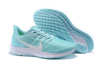 Nike Air Zoom Pegasus 36 Jade/White Womens Running Shoes AQ2210 010 бирюзовые женские