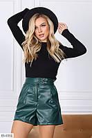 Женские стильные шорты. Размер: L-XL, S-M Ткань - качественная экокожа Цвет-чёрный ,бутылка , мокко ,бордовый
