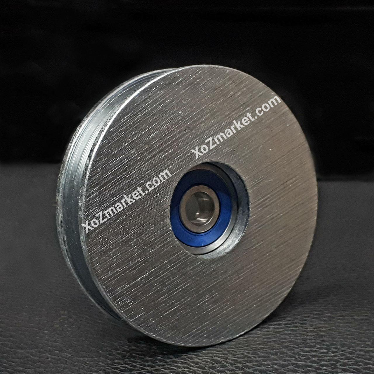 Ролик сталевий з підшипником Ø 45 мм ➡️ Ролик монтажний з підшипником одинарний 250 кг ➡️ ОПТ