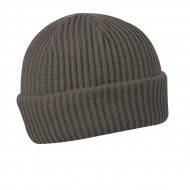 Мужская серая зимняя шапка вязаная спортивного стиля
