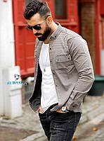 Рубашка мужская с длинным рукавом Rubaska джинсовая