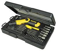 """Отверточный держатель с храповым механизмом и набором вставок """"Pistol Grip Ratchet""""  STANLEY 0-63-038"""