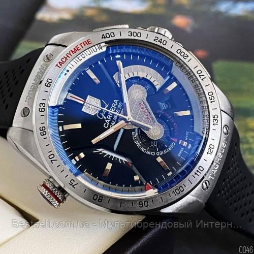 Годинники чоловічі наручні Tag Heuer Grand Carrera Calibre 36 quartz Chronograph / репліка ААА класу / відеоогляд