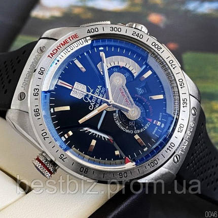 Годинники чоловічі наручні Tag Heuer Grand Carrera Calibre 36 quartz Chronograph / репліка ААА класу / відеоогляд, фото 2
