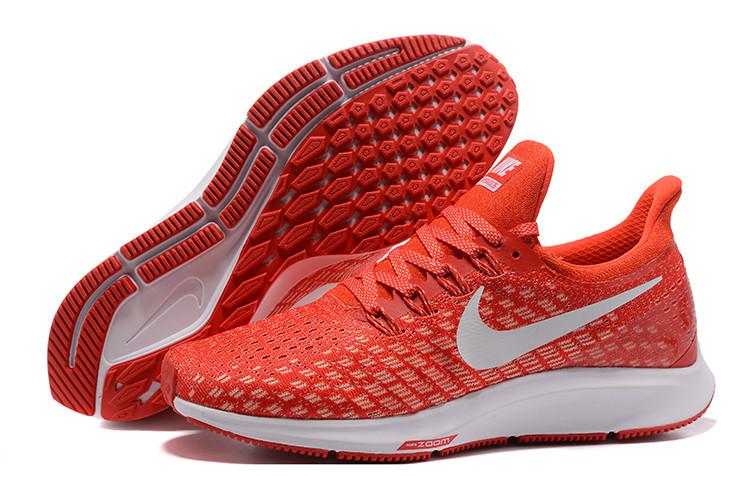 Кроссовки Nike Air Zoom Pegasus 35 Bright Crimson/Ice Blue-Sail 942851-600 оранжевые мужские