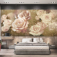 """Фотообои панно с цветами """"Кремовые розы"""""""