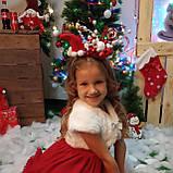 Новорічний обруч, Капелюшок санти на обручі, обруч на новорічне Свято, фото 2