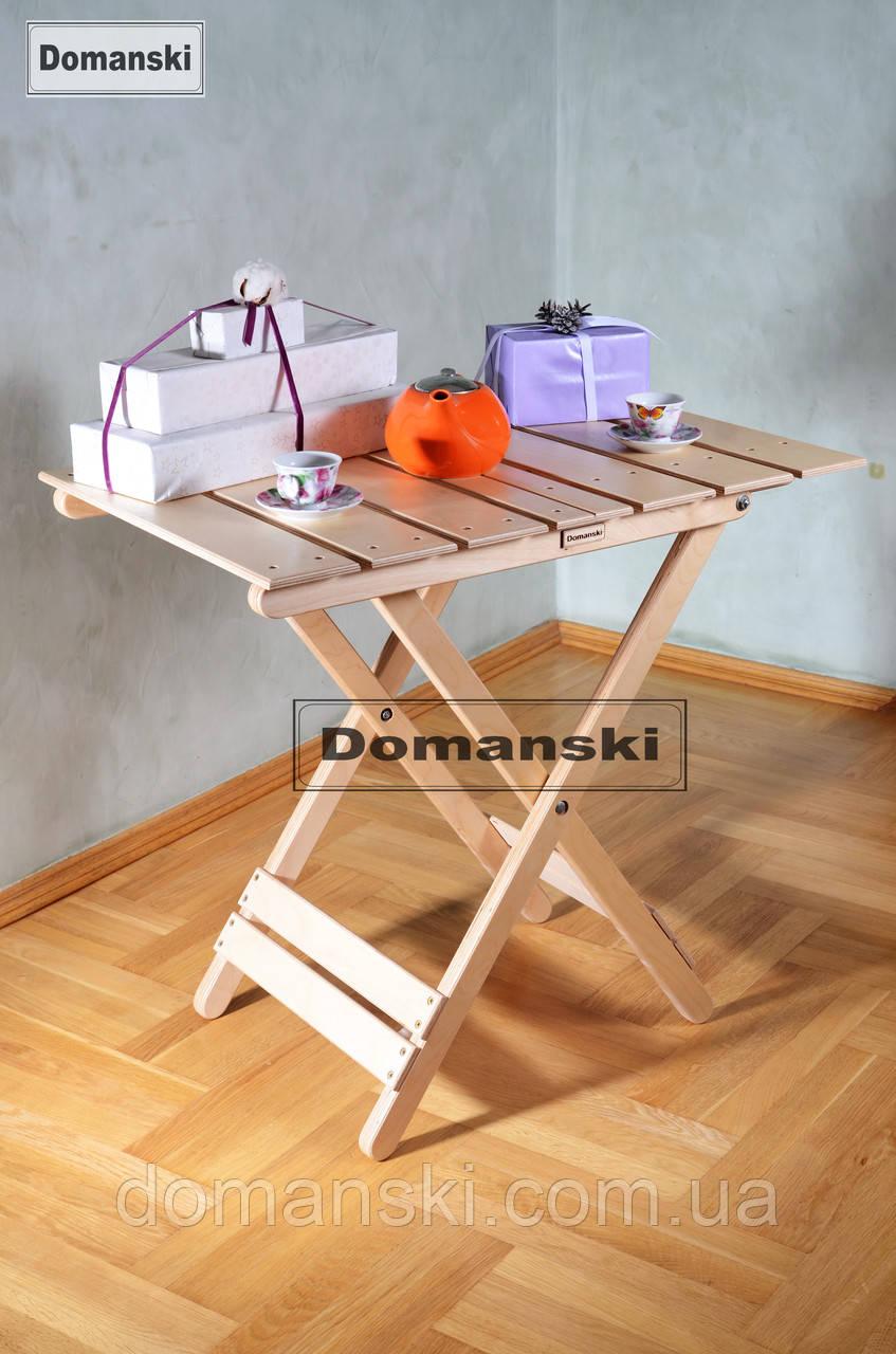 Кофейный столик, раскладной. Стол складной для балкона, прихожей, пикника и дачи.