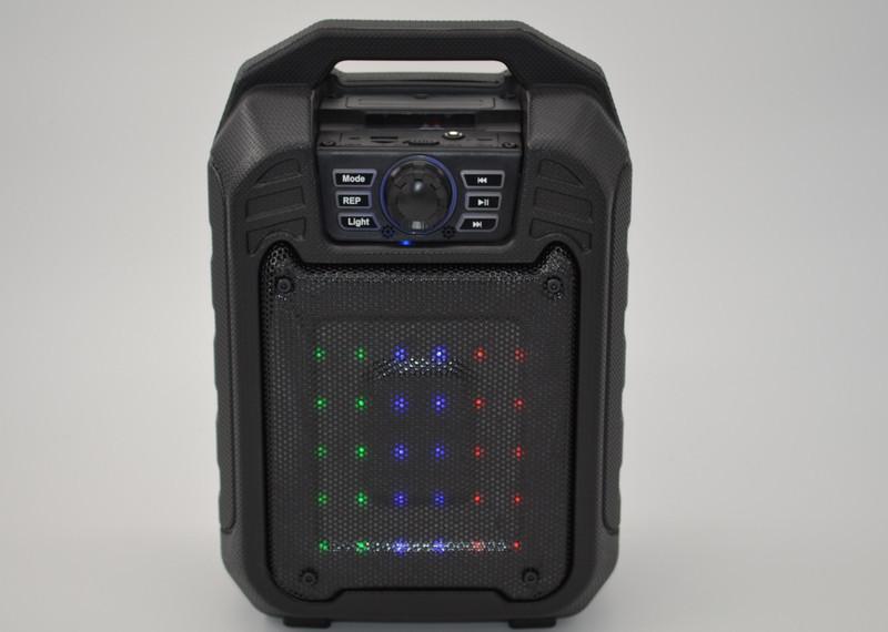 Колонка чемодан со светомузыкой B-15