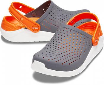 Кроксы детские Crocs Literide Kids серые С11/ 17,8 – 18,2 см