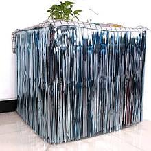 Юбка для стола из дождика для фотозон светло голубая  1*1 м