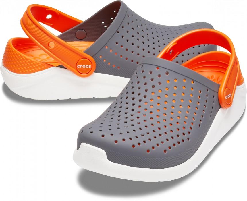 Кроксы детские Crocs Literide Kids серые С12/ 18,3 – 18,7 см