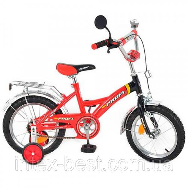 Детский двухколесный велосипед PROFI 14д(арт. P 1436), красно-черный