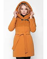 Женское зимнее пальто из вареной шерсти с капюшоном