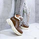 Женские кроссовки на меху 13665, фото 2