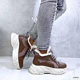 Женские кроссовки на меху 13665, фото 5