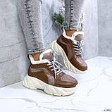 Женские кроссовки на меху 13665, фото 6
