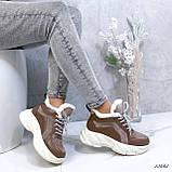 Женские кроссовки на меху 13665, фото 7
