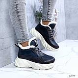 Женские кроссовки на меху 13666, фото 4