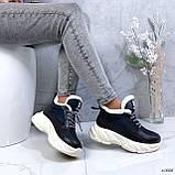 Женские кроссовки на меху 13666, фото 3