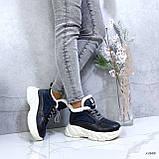 Женские кроссовки на меху 13666, фото 5