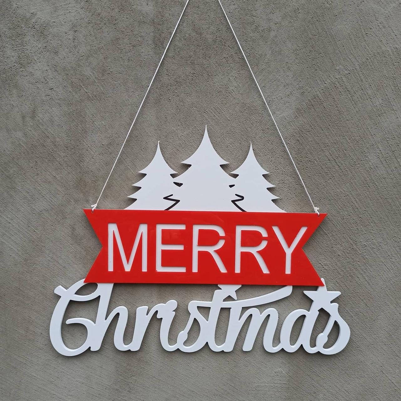 """Сучасний Новорічний різдвяний вінок на двері, стіну, напис """"Merry Christmas"""" як вінок на двері"""