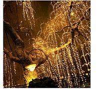 Гирлянда Конский хвост 1200 LED,40 нитей 4 м,тепло-белый, для улицы и помещения