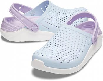 Детские кроксы Crocs Literide Kids голубые J3/ 22,0 – 22,5 см