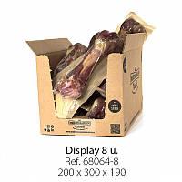 Лакомства для тварин, М'ясна кістка для собак, свинина, Mediterranean natural Serrano Ham Bones  380грам 20 см
