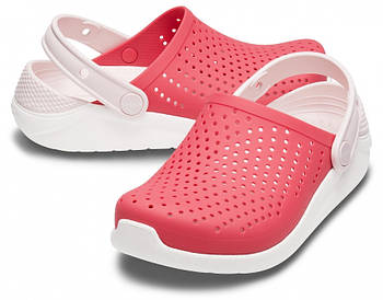 Детские кроксы Crocs Literide Kids красные С12/ 18,3 – 18,7 см